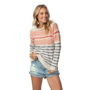 Rip Curl Stripe Knit Soft Cotton Pullover Sweater